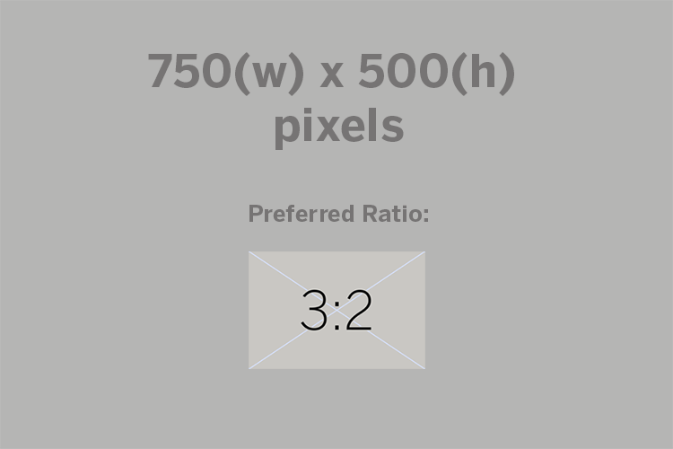 750(w)x500(h) pixels, preferred ratio:3:2